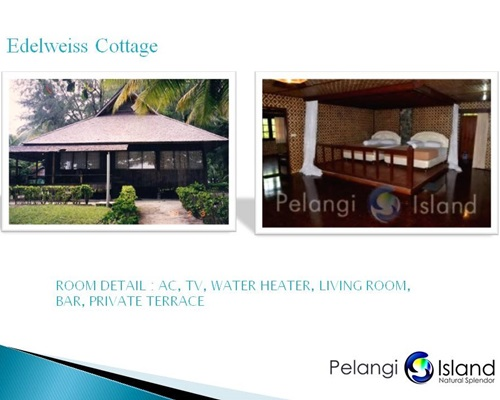 Pulau Pelangi Resort - Edelweiss Bungalow